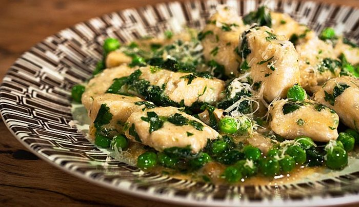 Ricotta Cheese Gnocchi with Buttered Peas & Mint - Good Chef Bad Chef