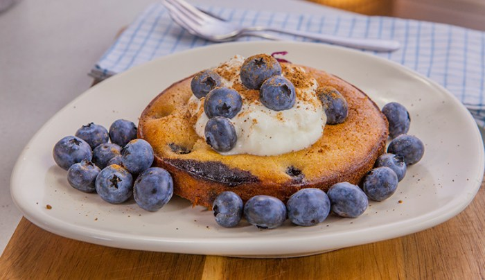 Individual Gluten Free - Blueberry Clafoutis - Good Chef Bad Chef
