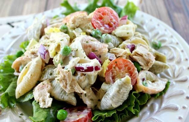 Tuna pasta salad good dinner mom for Tuna fish macaroni salad