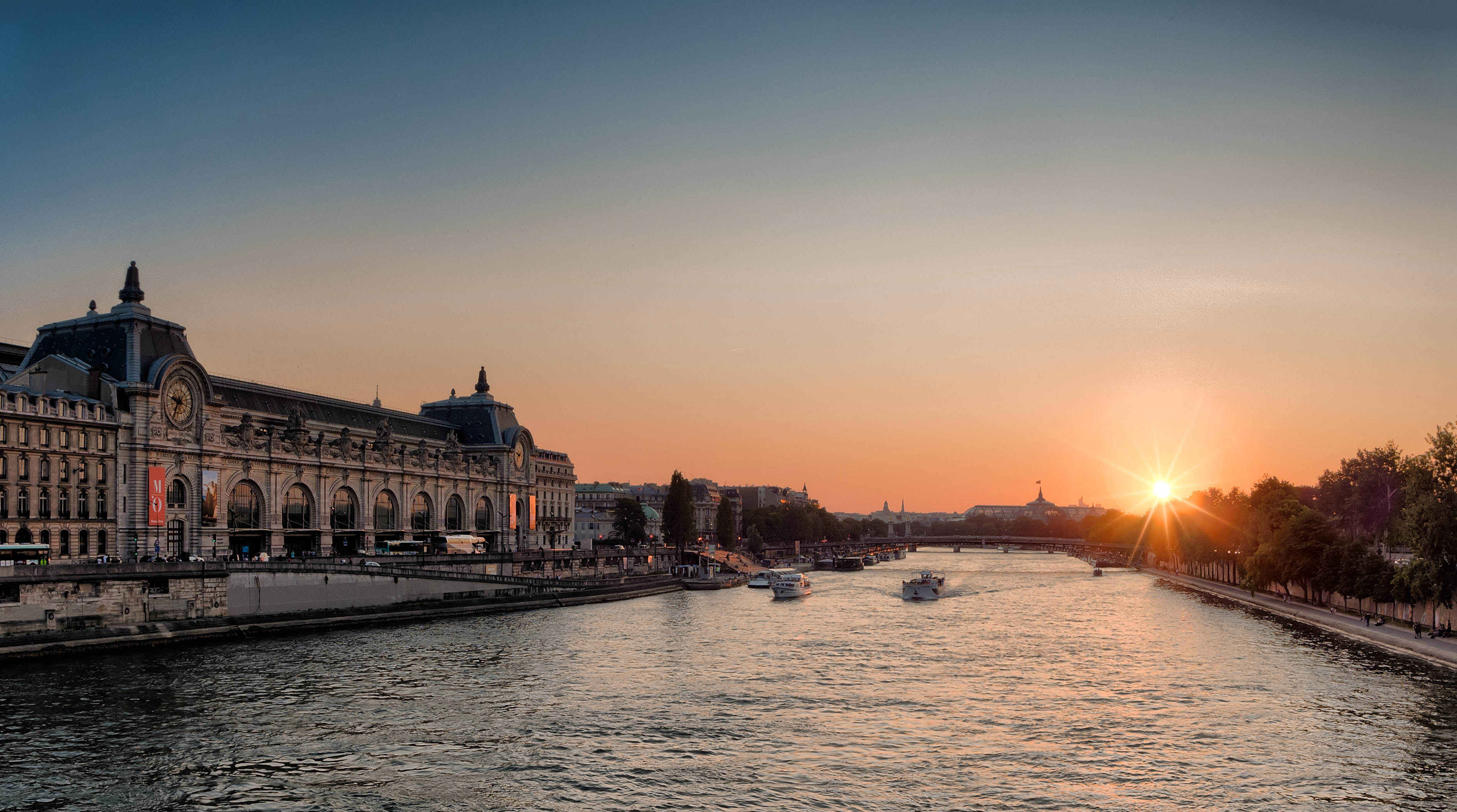 Love U So Much Quotes Wallpaper Sunset On The Seine In Paris France Image Free Stock