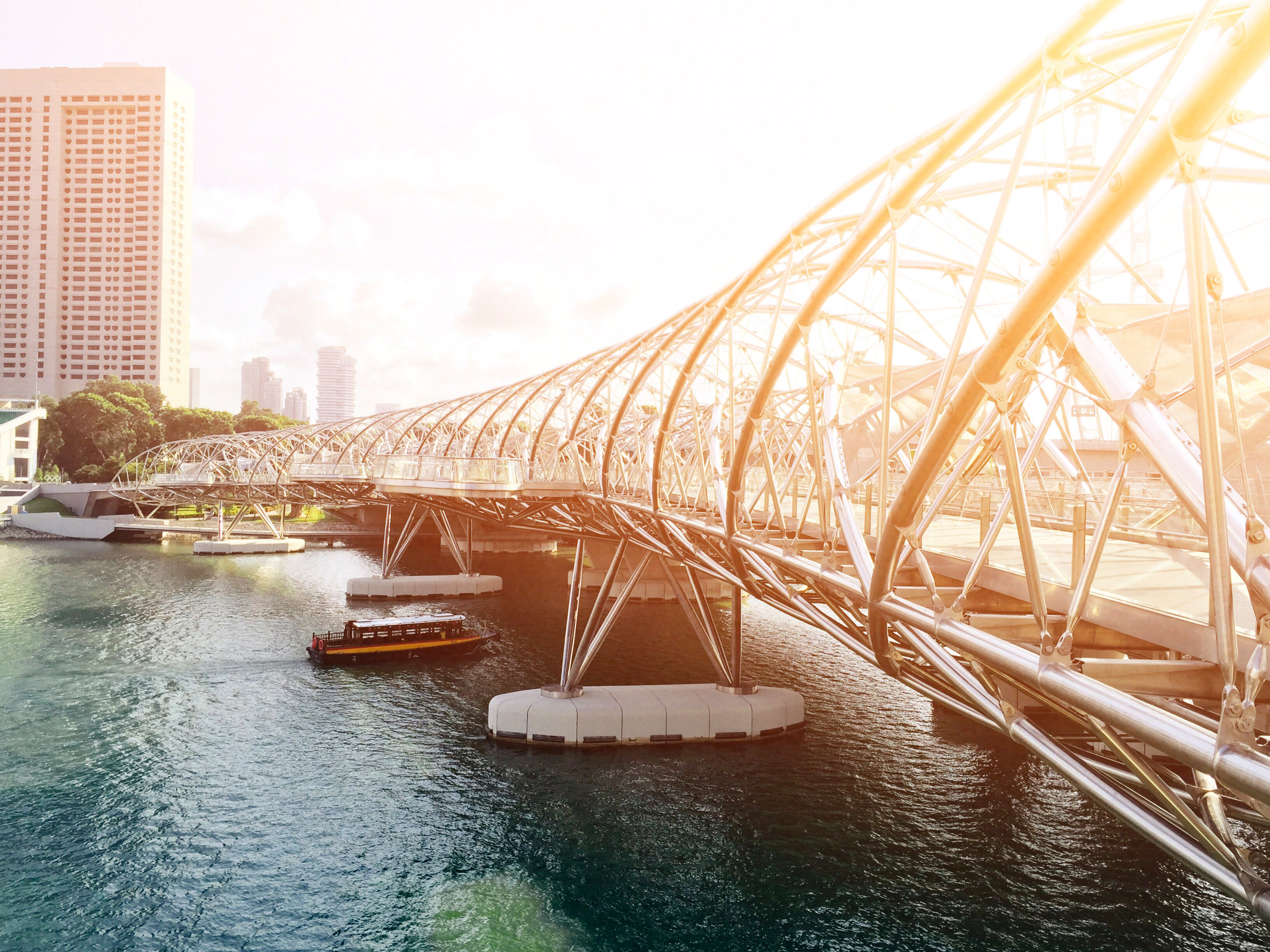 Full Hd Wallpaper Search Bridge Architecture In Singapore Under The Sunlight Image