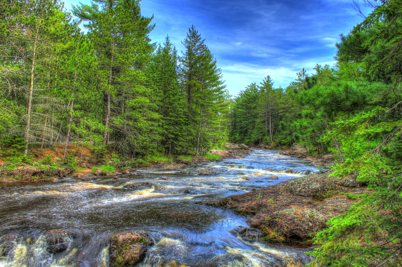 Free Fall Desktop Wallpaper Beautiful River Landscape At Amnicon Falls State Park