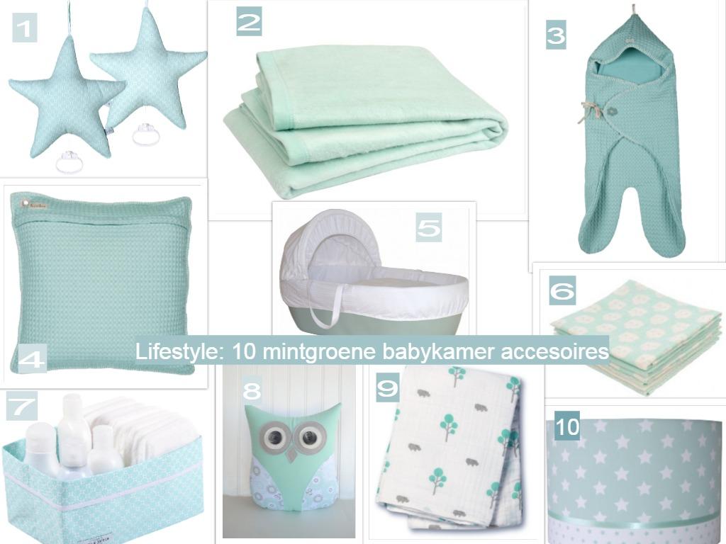 10 x mintgroene accessoires voor de babykamer #1