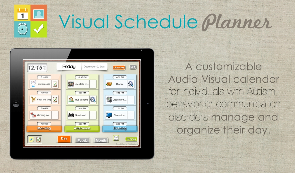 Visual Schedule Planner - wanderlust for all