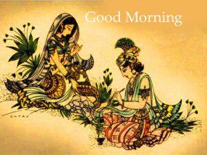 Gud Morning Wallpaper With Quotes In Hindi 112 Radha Krishna Good Morning Images