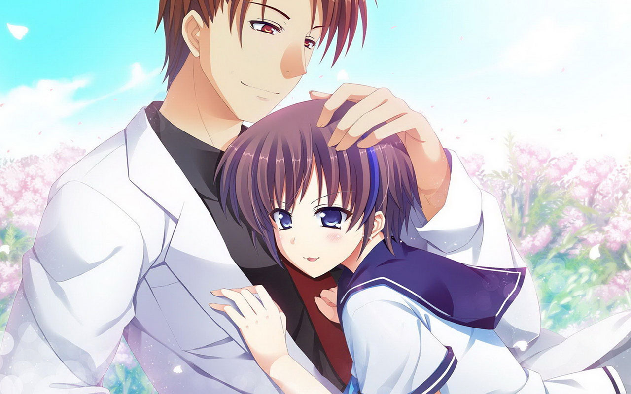 Cute Couple Hugging Wallpaper Romantic Cute Anime Couples Images Animated Couple Pics