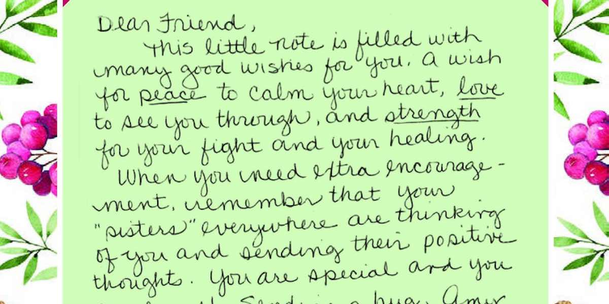 Strangers Write 125,000 Loving Letters to Breast Cancer Patients