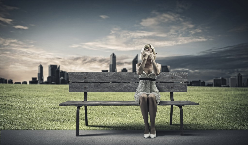 Girl Sitting On Bench Wallpaper How To Turn Self Hatred Into Self Compassion