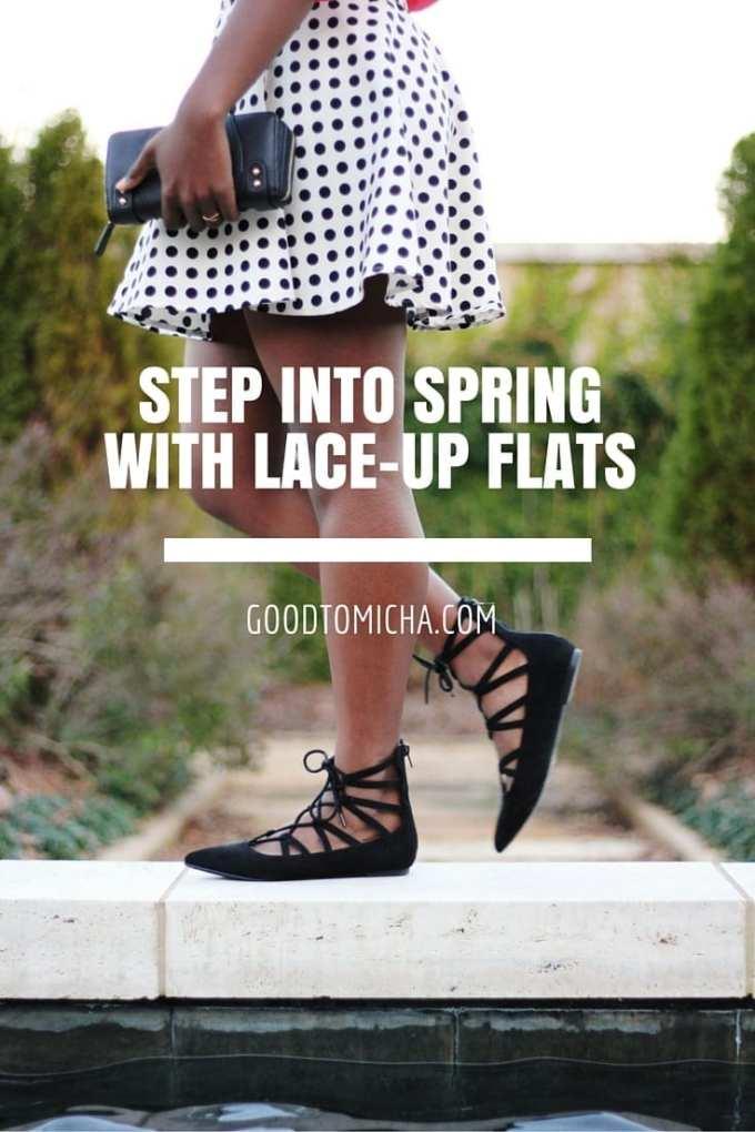 Lace-up ballet flats   goodtomicha.com
