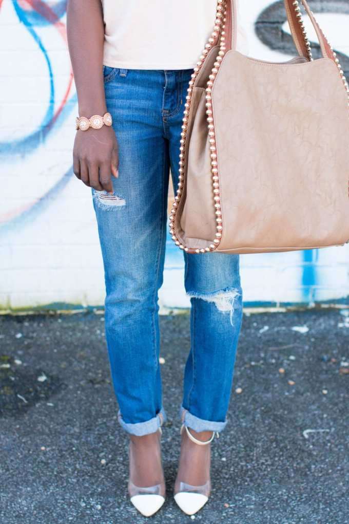 Blush Top // Casual Spring Outfit on GoodTomiCha