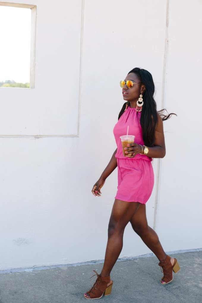 pink rompers