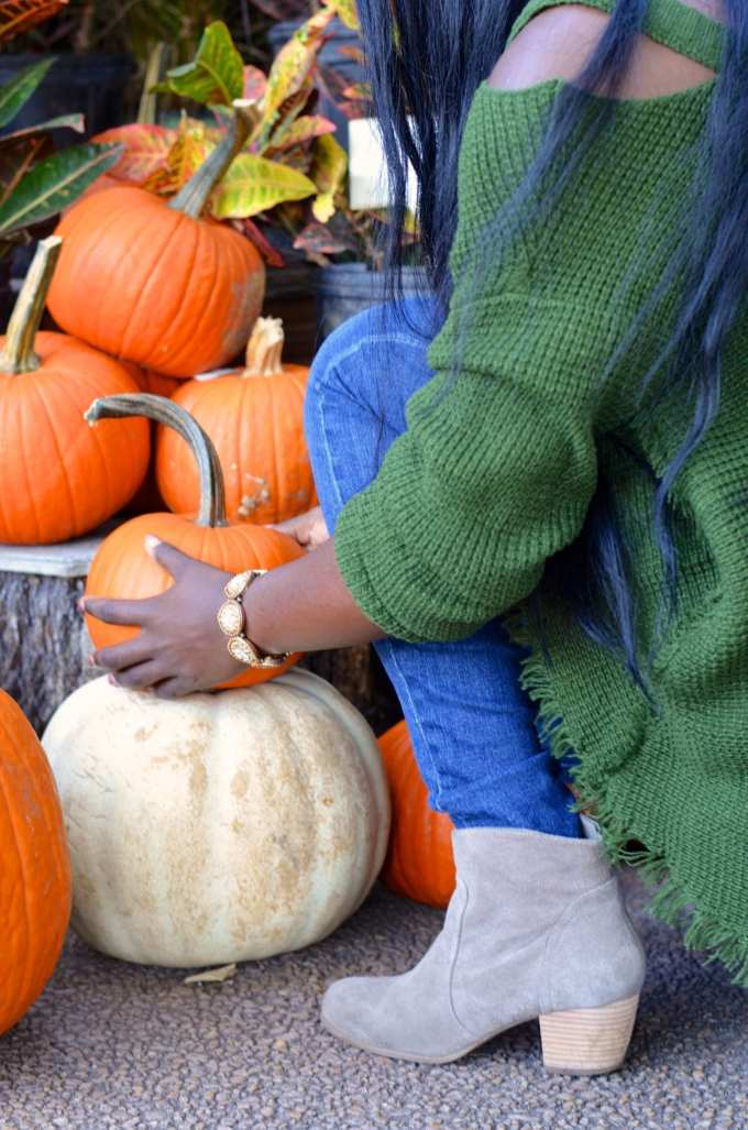 Sweaters + Sole Society Booties + Pumpkins = Fall