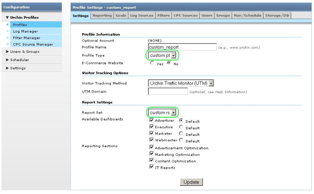How To Create Custom Reports - Urchin Help