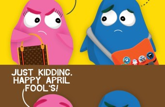 "Googly Gooeys The BreakUp ""This realtionship is over"" ""What?"" ""Just kidding. Happy April fool's!"""
