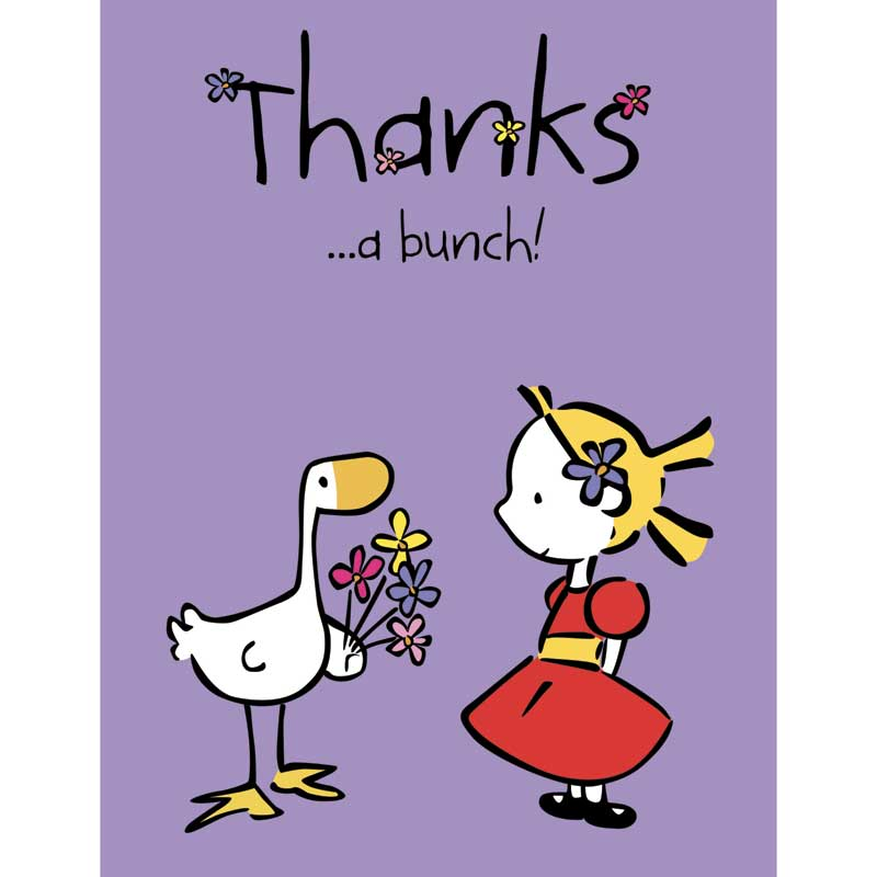 Goose  Friends Thank you note cards - Thanks a bunch