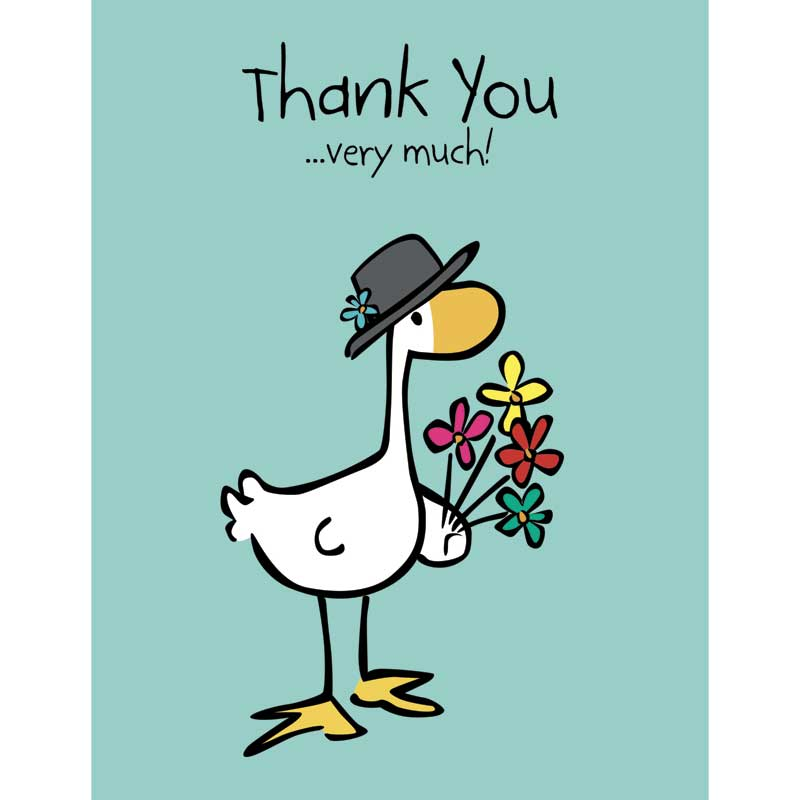 Goose  Friends Thank you note cards - Thanks very much