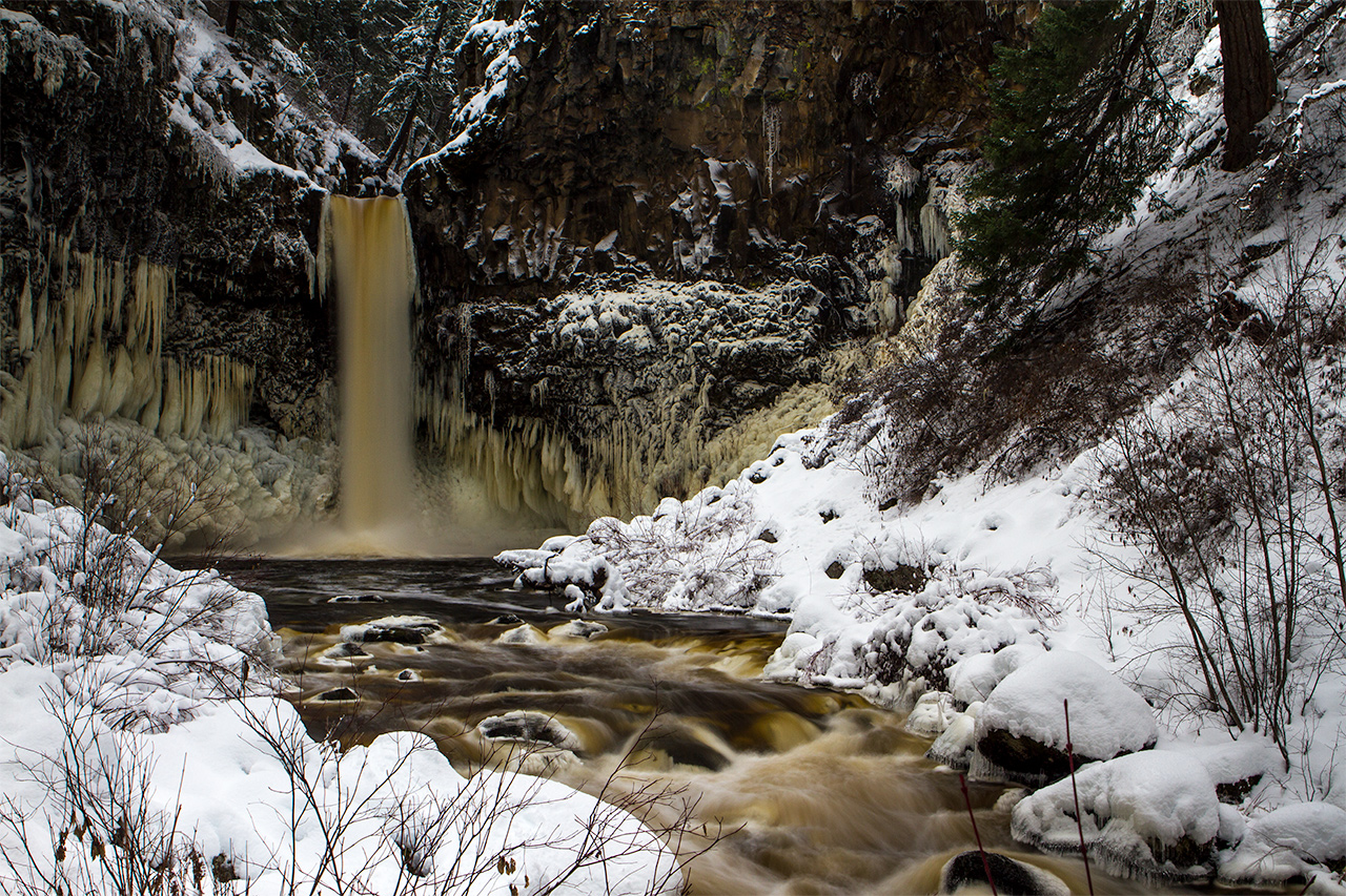 Outlet Falls in Winter