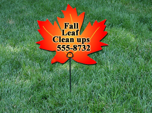 Fall leaf clean up lawn sign ideas Lawn Care Business Marketing