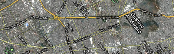 Insurgentes + Google Maps