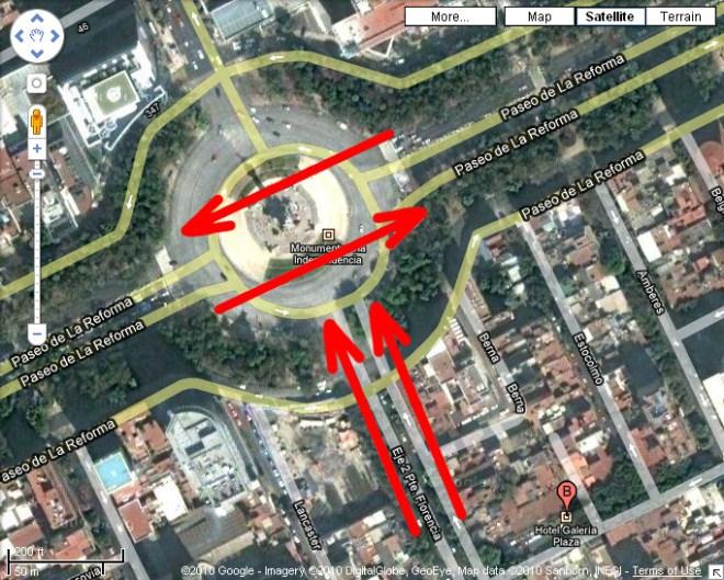 Cruce de Paseo de la Reforma con Florencia / Ciudad de México