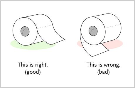 Papel higiénico y todo en su debido lugar
