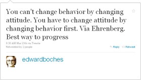 You can't change behavior…