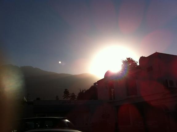 Ocaso en Monterrey