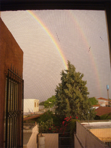 Doble arcoiris en Saltillo