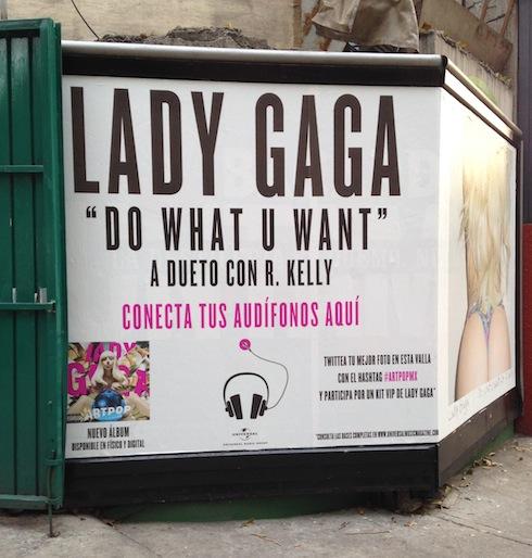 Valla de Lady Gaga