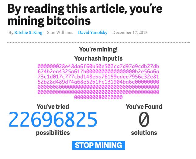 Minando Bitcoins