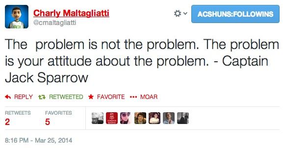 El problema no es el problema...