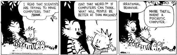 Calvin y Hobbes - Psychotic computer
