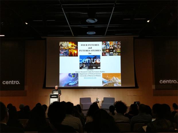 Conferencia de Jim Dator en CENTRO