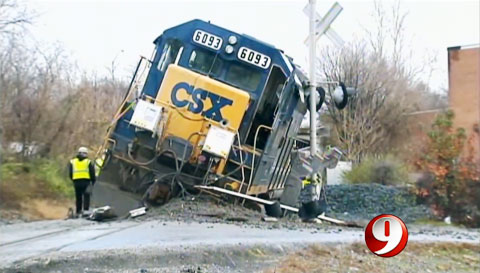 CSX Locomotive Derails Causing Hazardous Spill in Bladensburg, MD