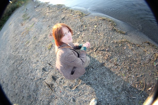 Sarah by the shore
