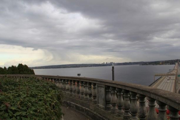 Sky dark, Bridge- Lake Washington