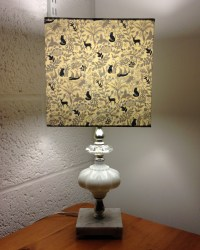 'Winter Wonderland' vintage lamp