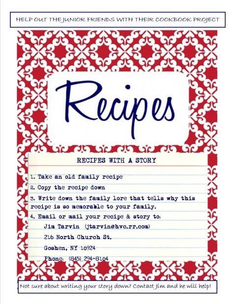Jr. Friends recipe project