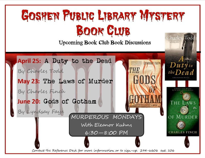 murder mystery upcomming selections dpf