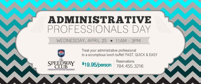 Administrative Professionals Day Menu Dining The Speedway Club