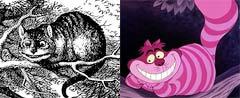 不思議の国のアリス チシャ猫 比較