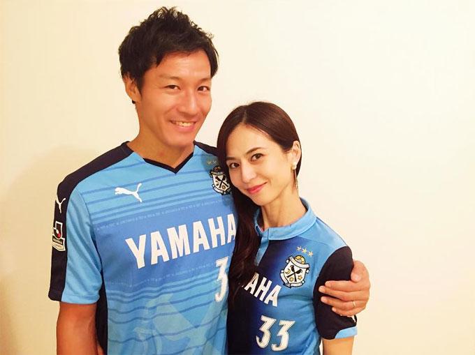 藤田義明選手と井川絵美夫妻