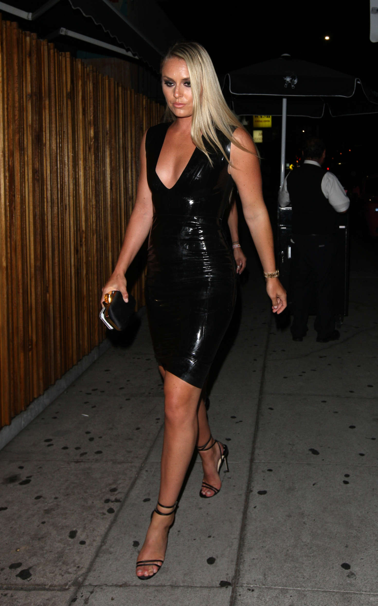 Strong Girl Wallpaper Lindsey Vonn In Tight Leather Dress 07 Gotceleb