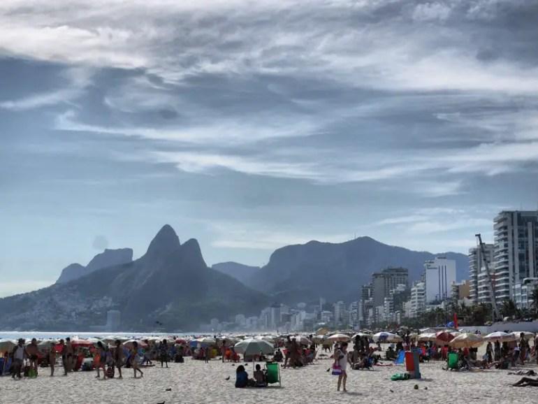 Ipanema Beach - No Boobs, Just Trendy Cariocas With Umbrellas