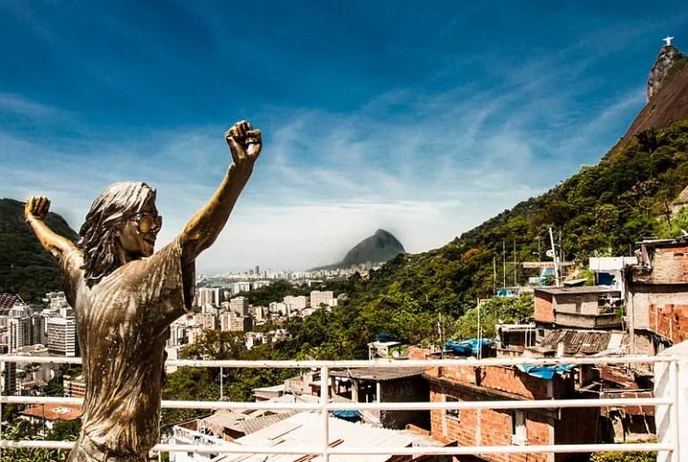 The Bronze Statue of Michael Jackson at Santa Marta Favela