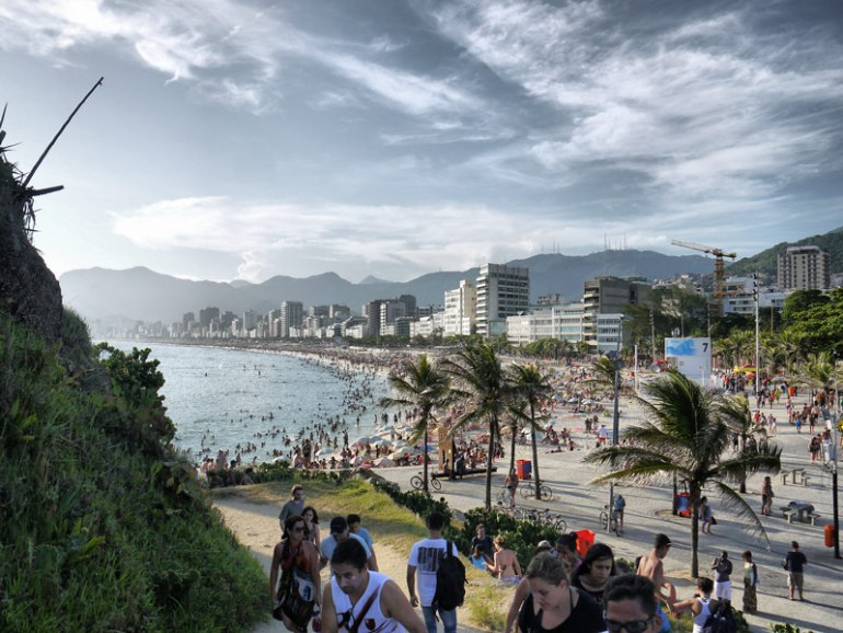 View of Ipanema Beach - Coming Down From Arpoador