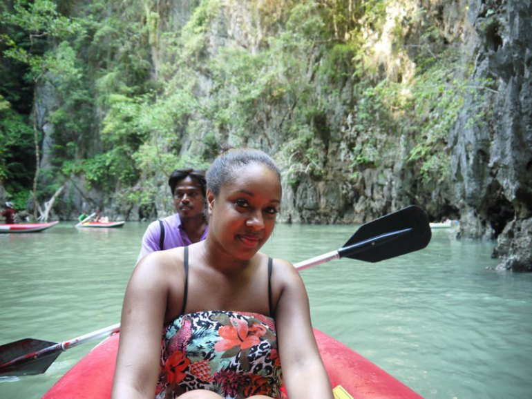Nat in a Cave Canoe Amongst The Mangroves In Phang Nga Bay - Phuket, Thailand