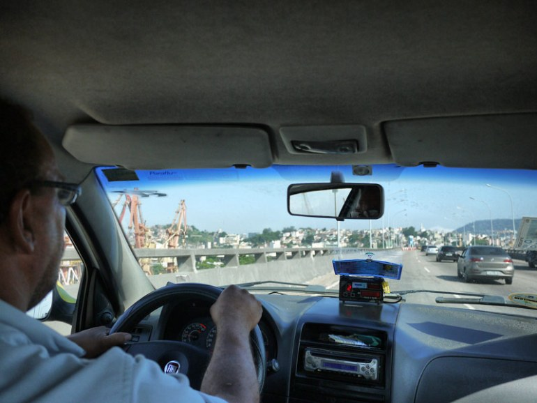 Rude and Aggressive Taxi Driver - From Rio Airport to Copacabana