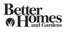 Better homes and gardens logo grey