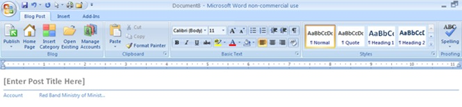 Ink Blogging from Word using a Tablet PC